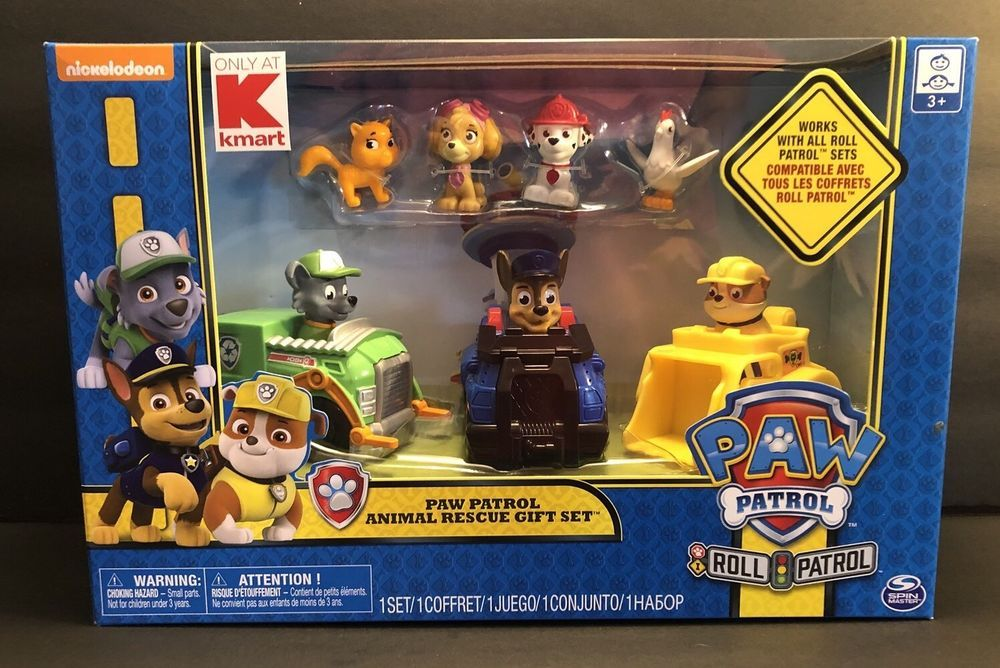 Nickelodeon Paw Patrol Pull Back Pup Gift Set  Marshall Rubble and Rocky NEW!