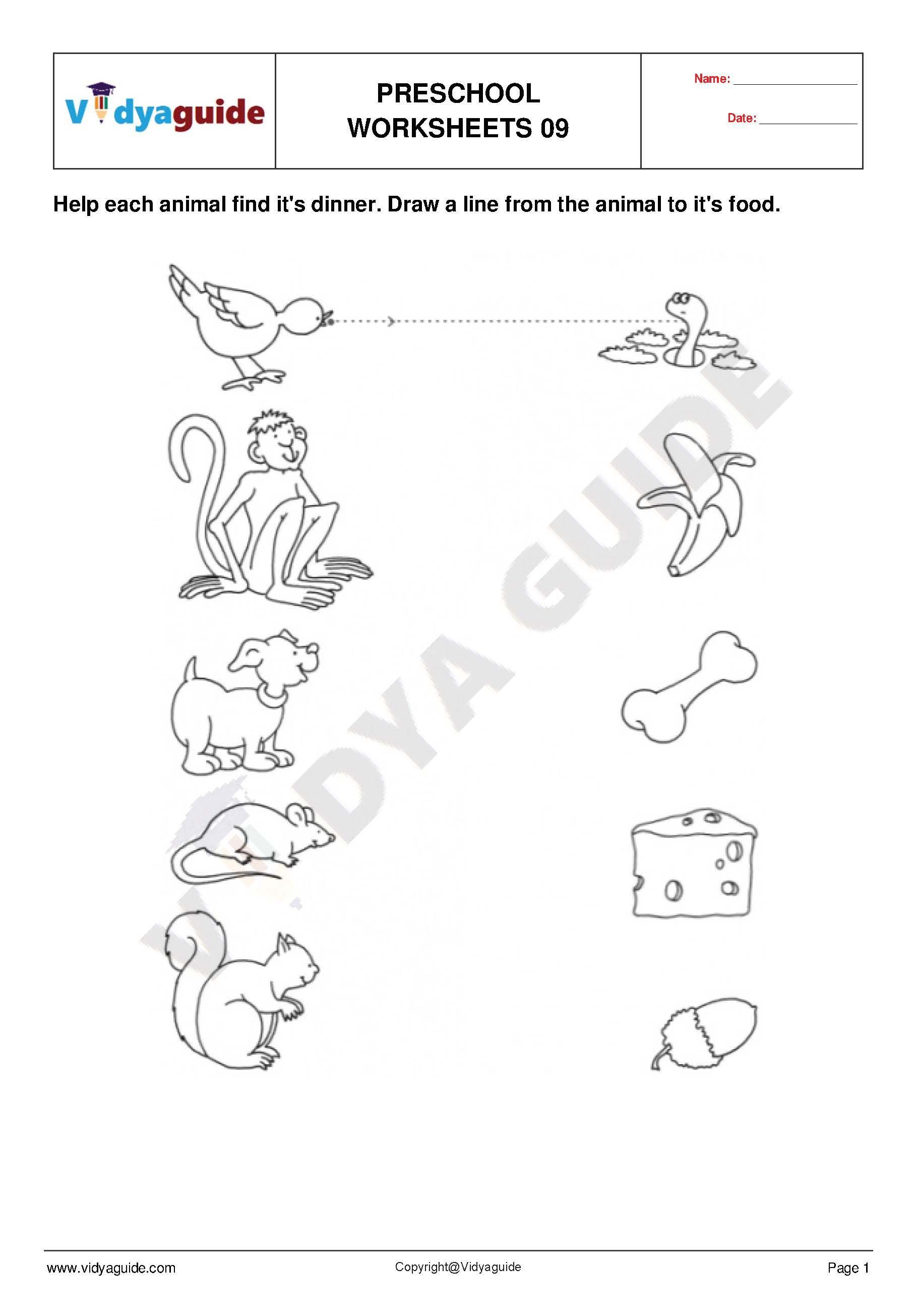 Preschool Worksheet Set 03 Free preschool worksheets