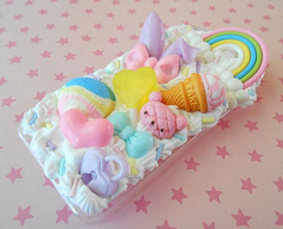 Fairy Kei iPhone 5 Case Iphone 5s Decoden Cover  by TheMintBeadery, $25.00