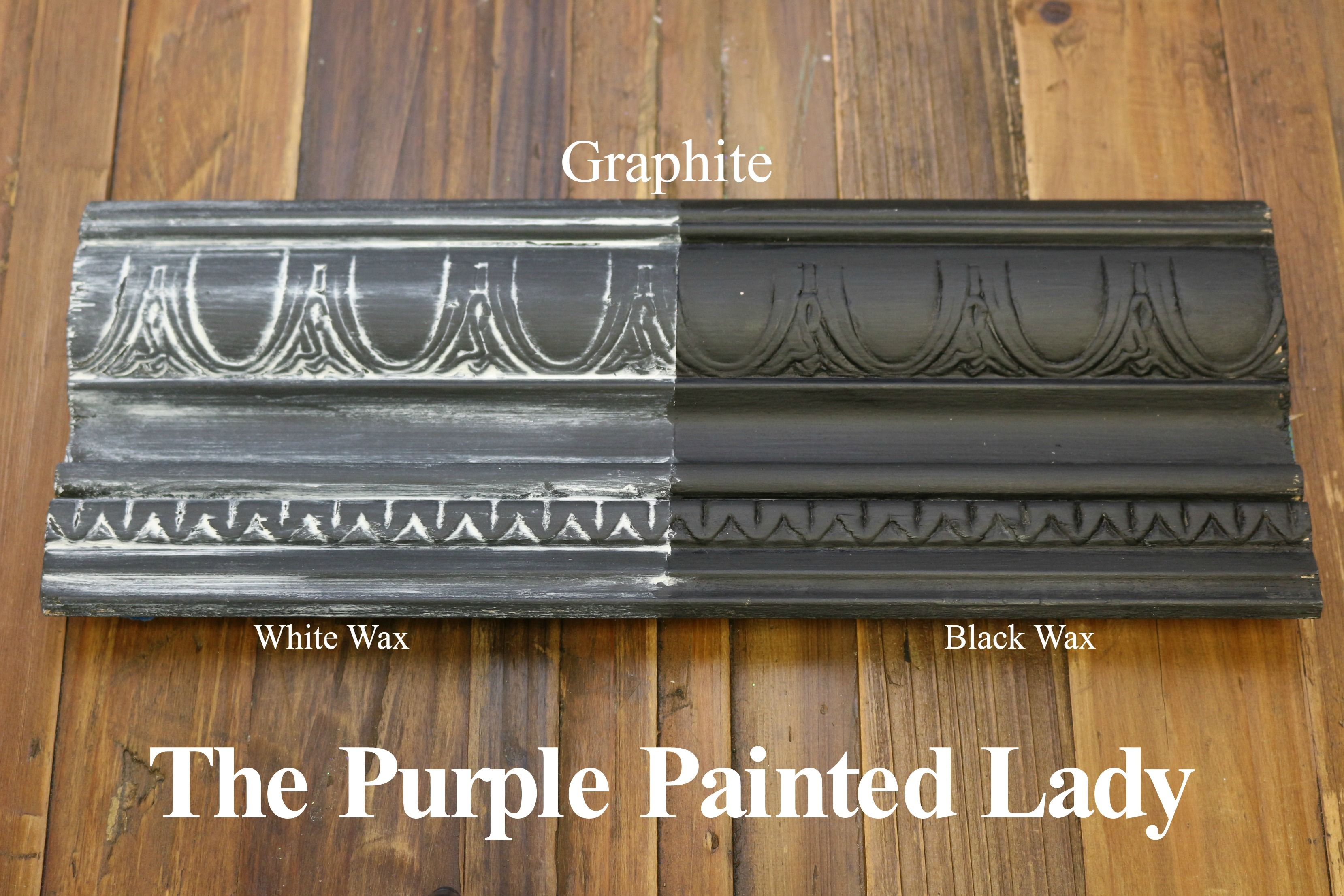 The Purple Painted Lady Two Coats Of Graphite Chalk Paint By Annie Sloan Then One Coat Clear Wax Over Entire Board White On