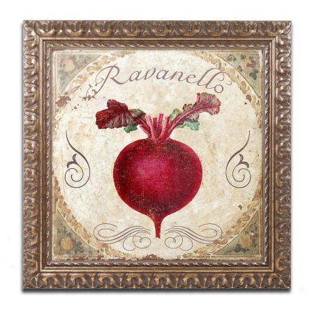 Trademark Fine Art Mangia I Canvas Art by Color Bakery Gold Ornate Frame, Assorted