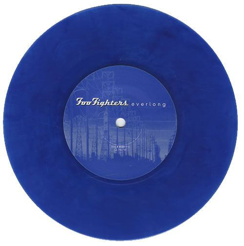Foo Fighters Everlong Blue Vinyl Uk 7 Vinyl Single 7 Inch Record 92249 Foo Fighters Everlong Foo Fighters Blue Vinyl