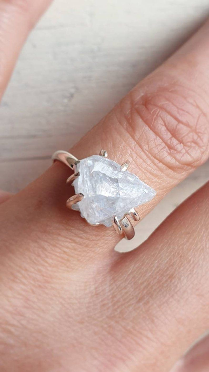 Women Gold Silver Filled Crystal 925 Silver Plated Weddding Beach Rings Jewelry