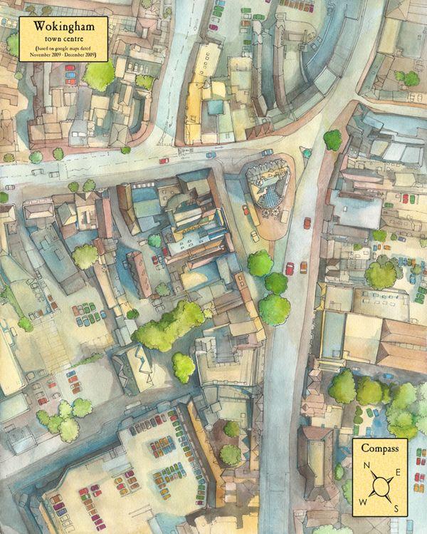 Illustrated Maps 2009-2010 by Abigail Daker, via Behance