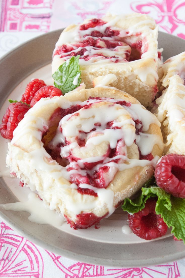 Raspberry Cheesecake Sweet Rolls These beautiful raspberry cheesecake sweet rolls are irresistibly delicious! Great for breakfast, brunch or a midnight snack!