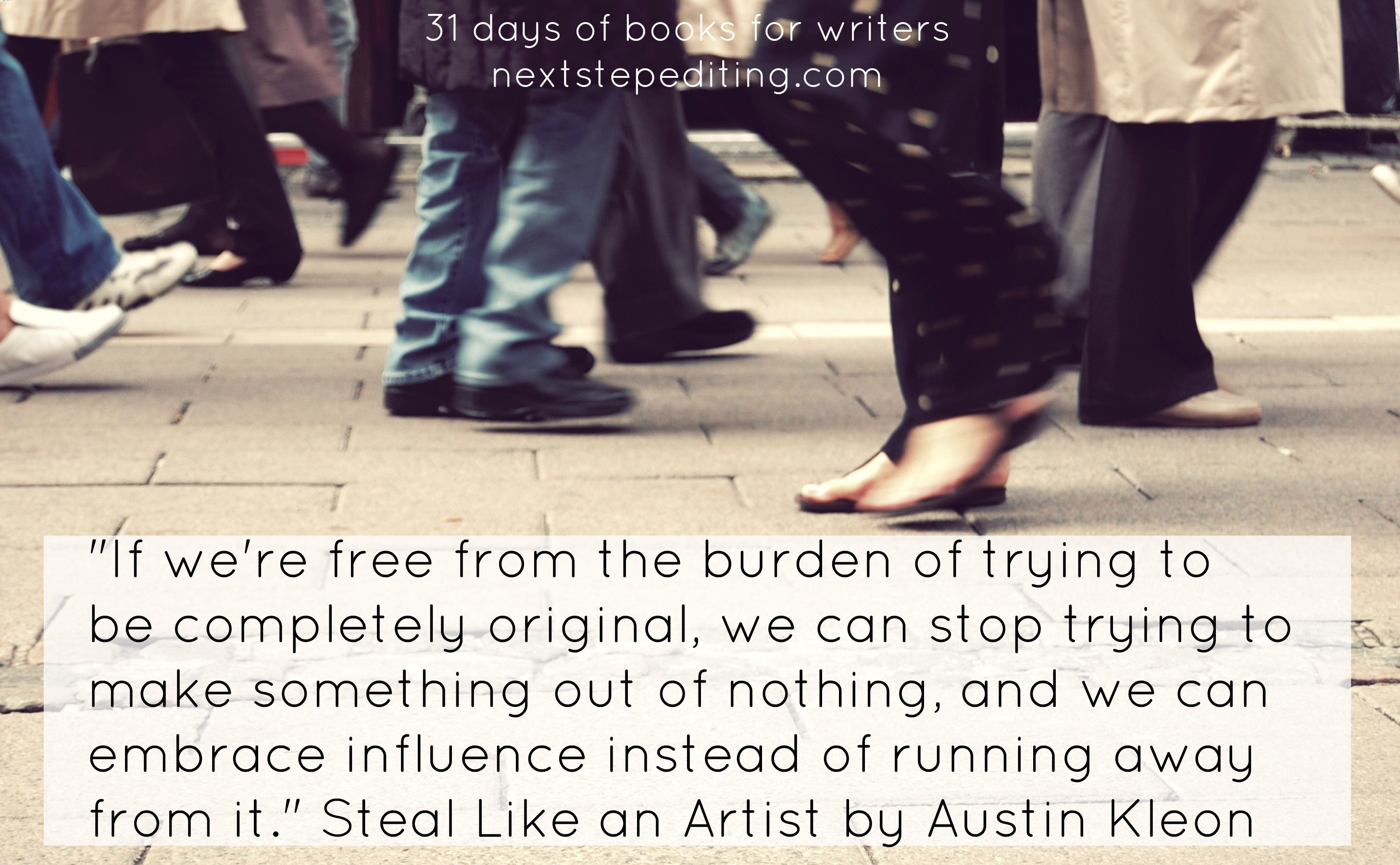 31 days of books for writers steal like an artist by