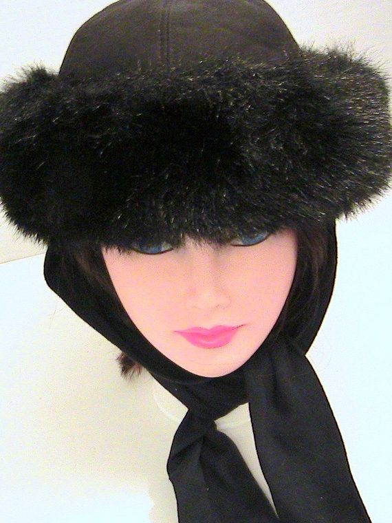 Vintage Womens Faux Fur Ladies Winter Hat by NanasOldShed  ee1fd553031