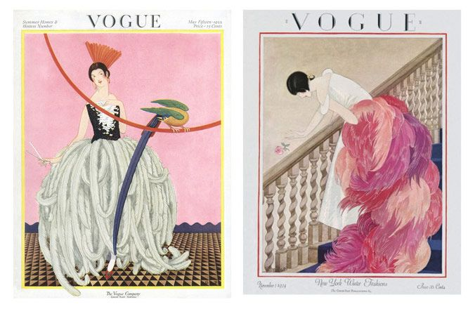 George Wolfe Plank Vogue covers May 1922 and November 1924 - Great idea to frame vintage mag covers