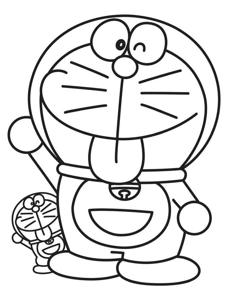 Gambar Mewarnai Doraemon 1