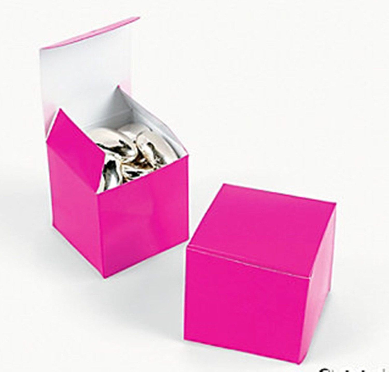 Hot Pink Favor boxes-12 EA. by SandyMsCraftSupplies on Etsy https ...