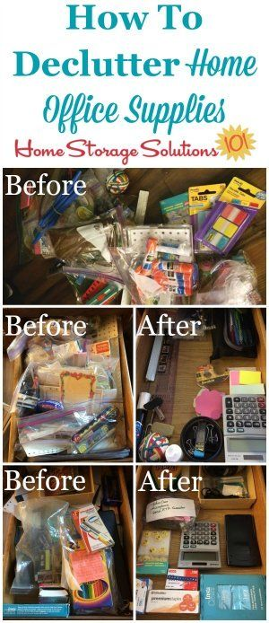 How To Declutter Home Office Supplies With Instructions And Before After Photos From Readers Who Ve Already Taken On This Declutter365 Mission