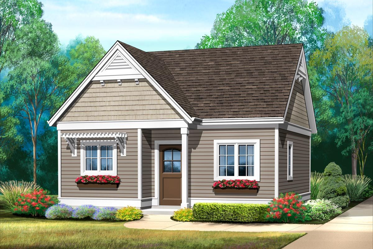 Plan 22139sl Adorable Tiny Home Plan With Vaulted Ceiling In 2021 Cottage Style House Plans Tiny House Plans House Plans
