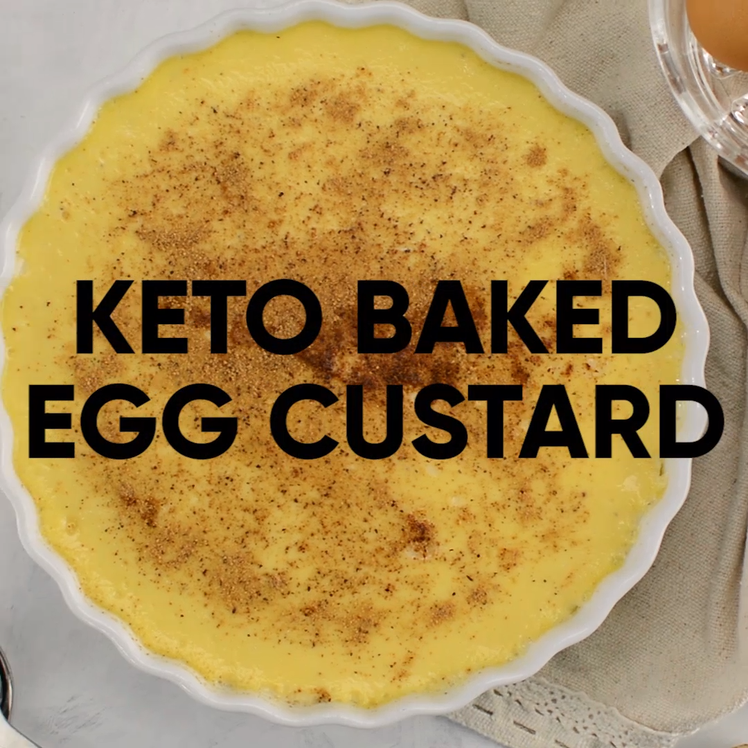 Keto Baked Egg Custard - EASY Sugar-Free Dessert Recipe