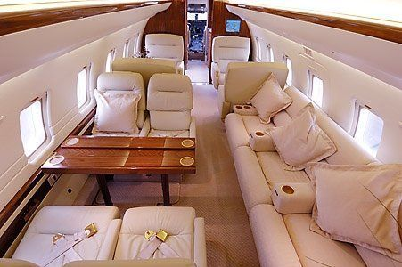 Inside Of Private Jet Gold Wood And Cream Interior Couldn T Get Any Lovelier Private Jet Interior Luxury Private Jets Aircraft Interiors