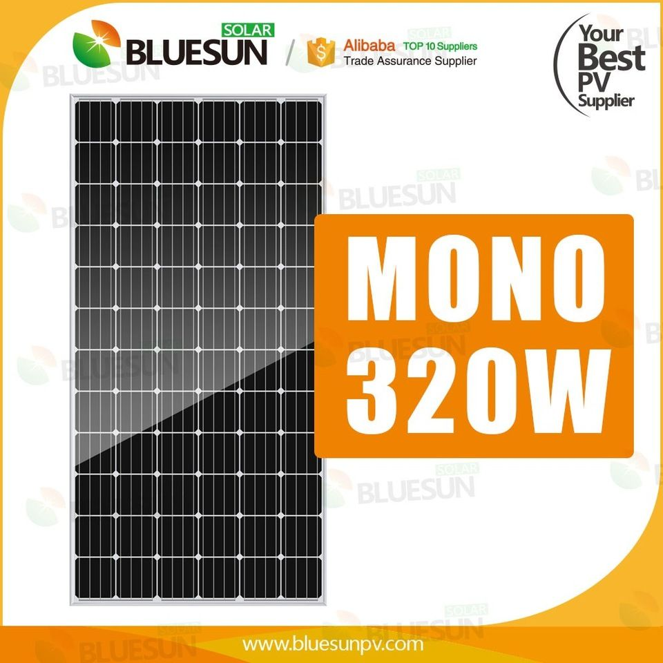 Bluesun top high quality 320w flexible solar panel for boat