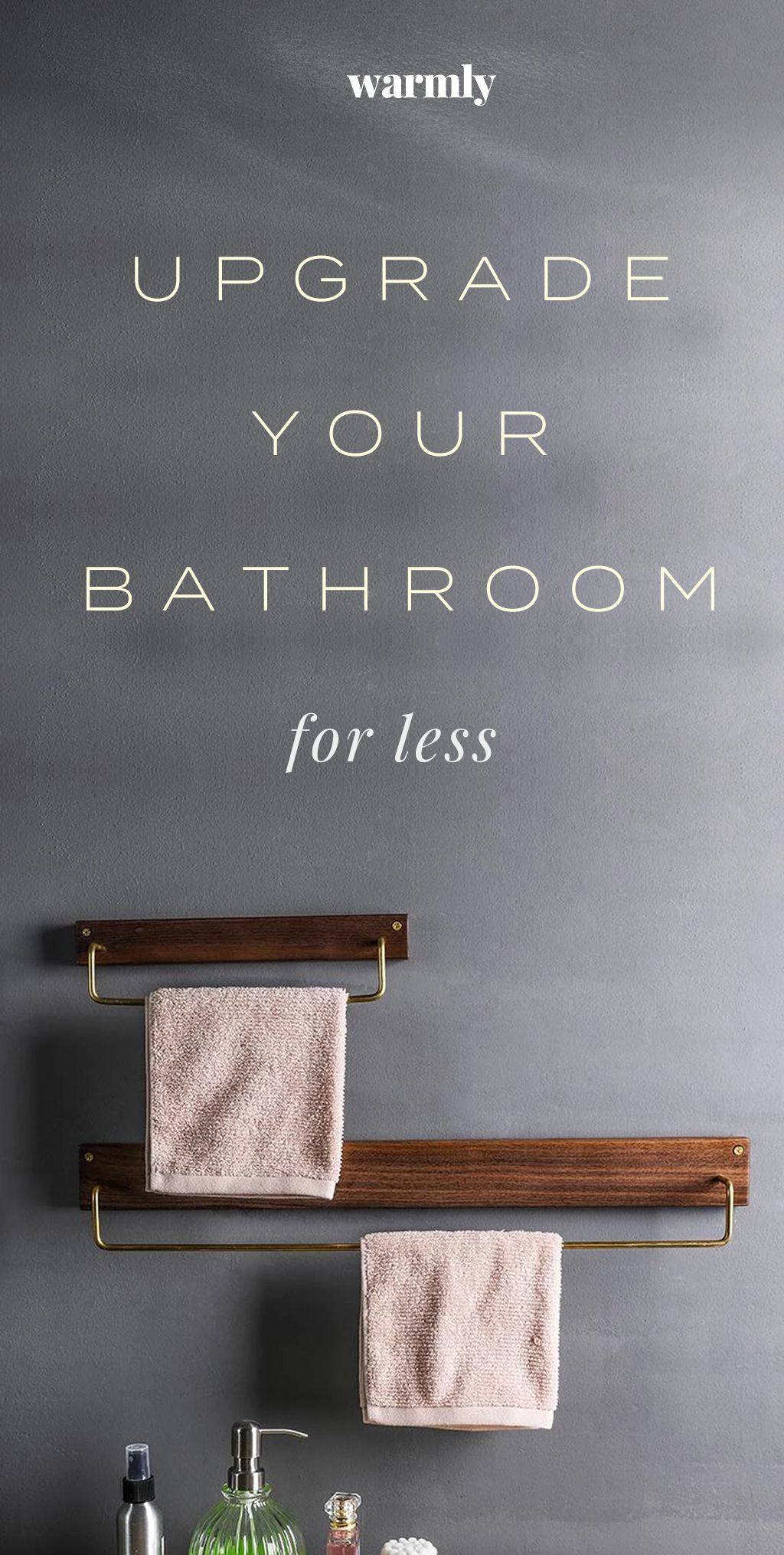 Upgrade Your Bathroom For Less #bathroomdecoration
