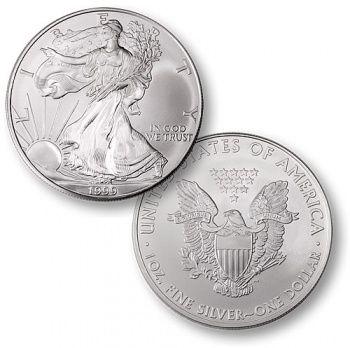 1999 1 Oz Silver American Eagle Coin Silver Eagle Coins Bullion Coins Silver Bullion
