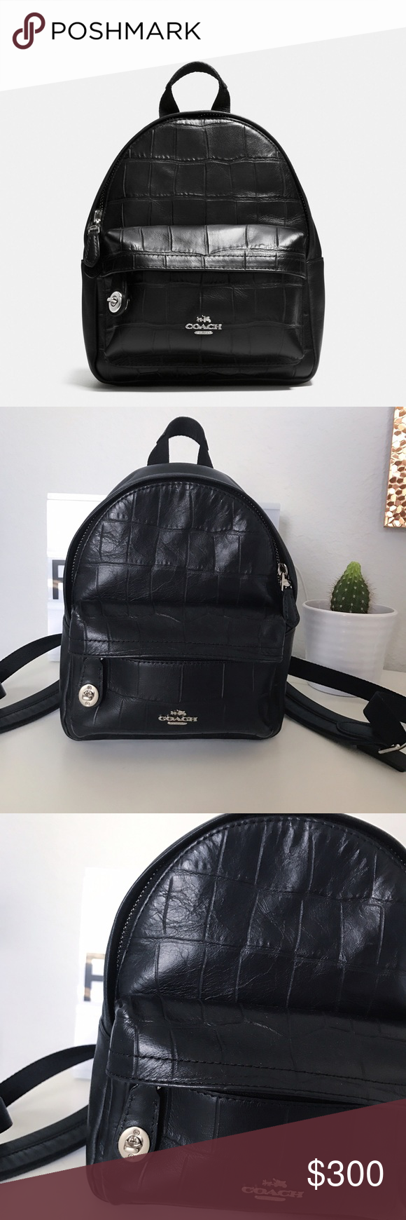 cb9cb0037d Coach Mini Campus Backpack Like new  Coach Mini Campus Backpack In Croc  Embossed Leather This