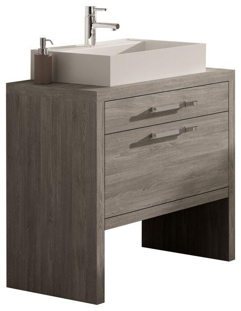 Montreal Oak Bathroom Vanity 24 Contemporary Vanities And Sink Consoles Long Lead Times