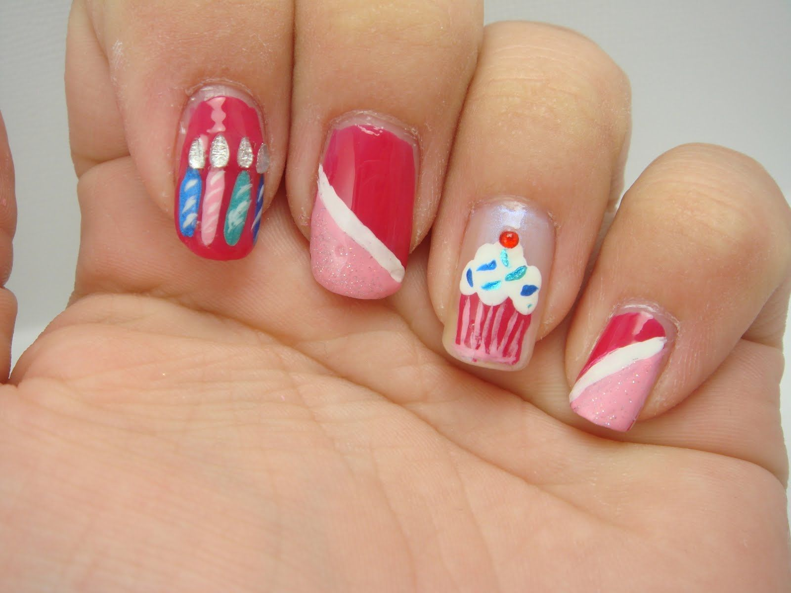 Happy Birthday Nails | Birthday nails, Birthday nail designs and ...