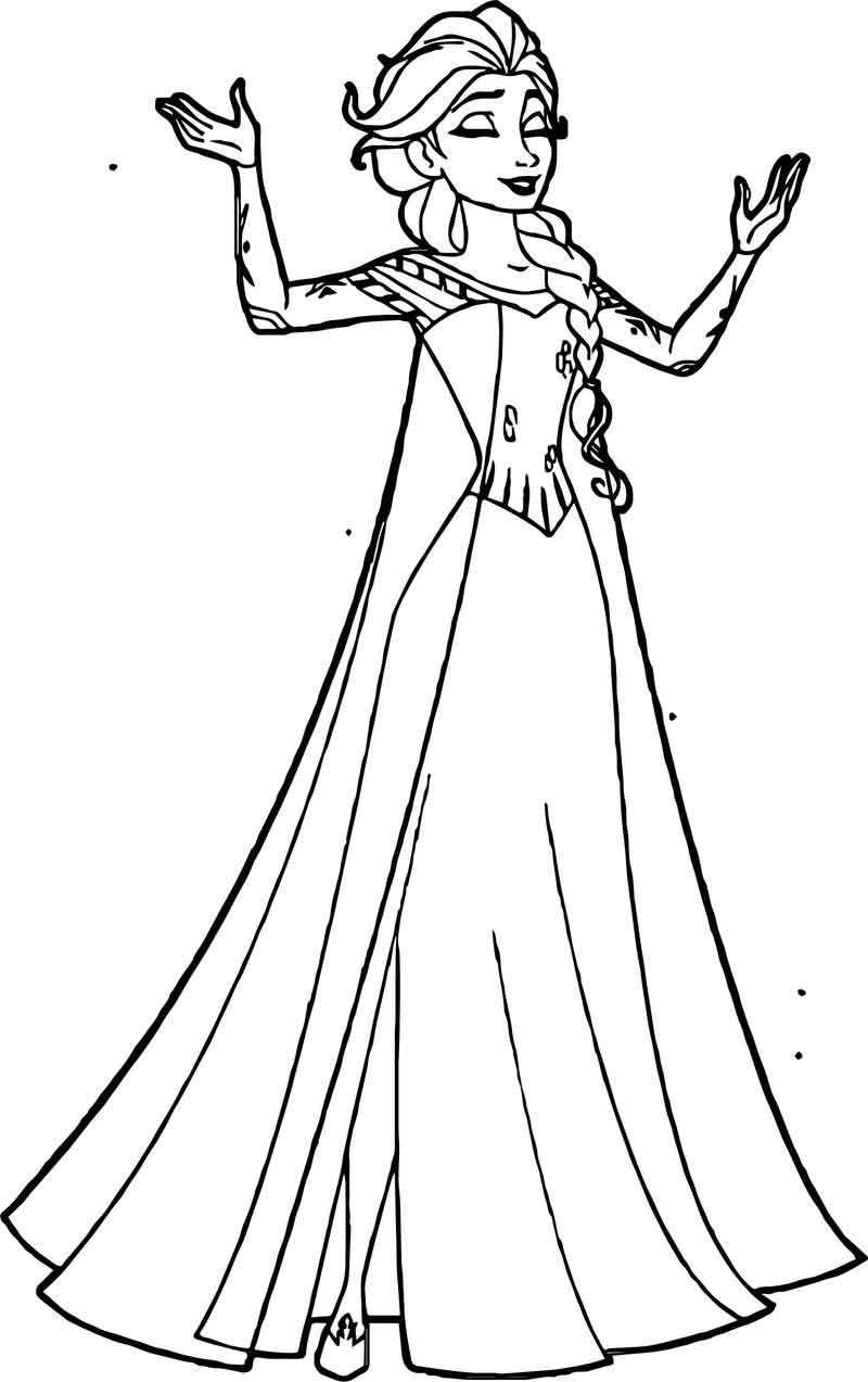 Elsa Happy Coloring Page . Elsa coloring pages, Elsa