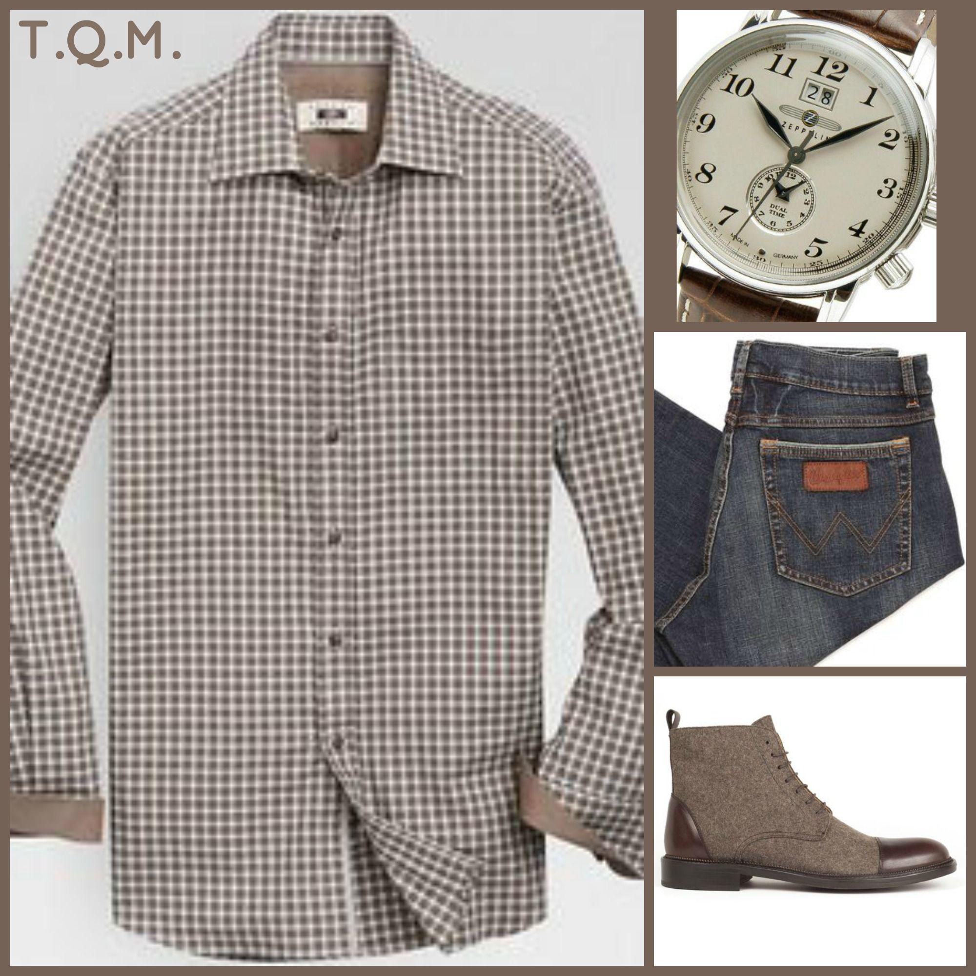 WEEKEND(JEAN STYLE): Joseph Abbound(Shirt)-Zeppelin(Watch)-Wrangler(Jeans)-Taft(Boot)