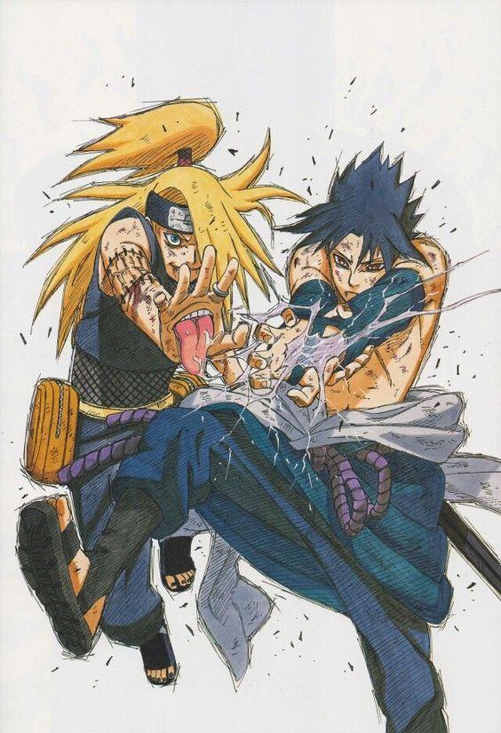 sasuke vs deidara narutoverse pinterest naruto naruto