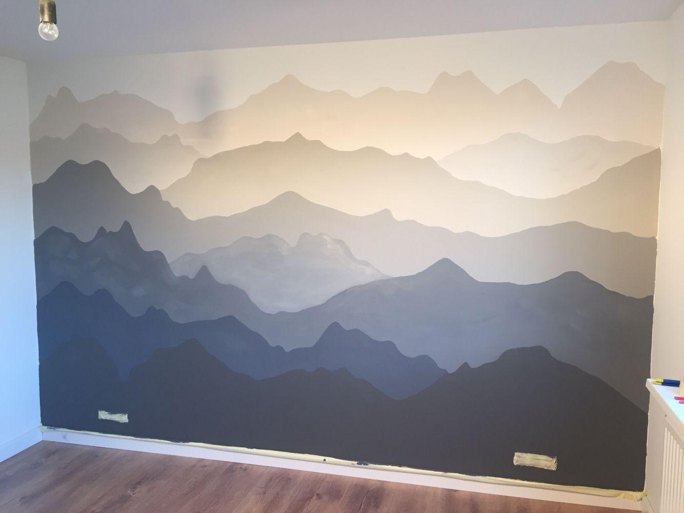 Berge Berge Berge Wallpaintingsgalaxy Wallpaintingsnature Wal Schlafzimmergestaltung Wandgestaltung Kinder Zimmer