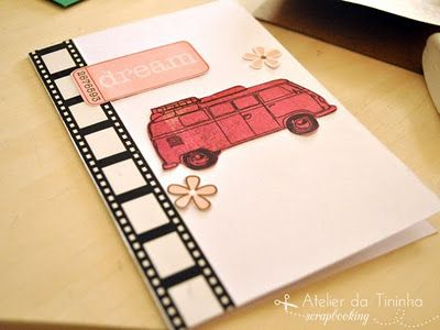 Cartão Artesanal com Sobras de materiais de scrapbook #cardmaking #tutorial #PAP #DIY #papercraft