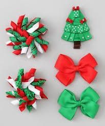 Image result for christmas hair bows