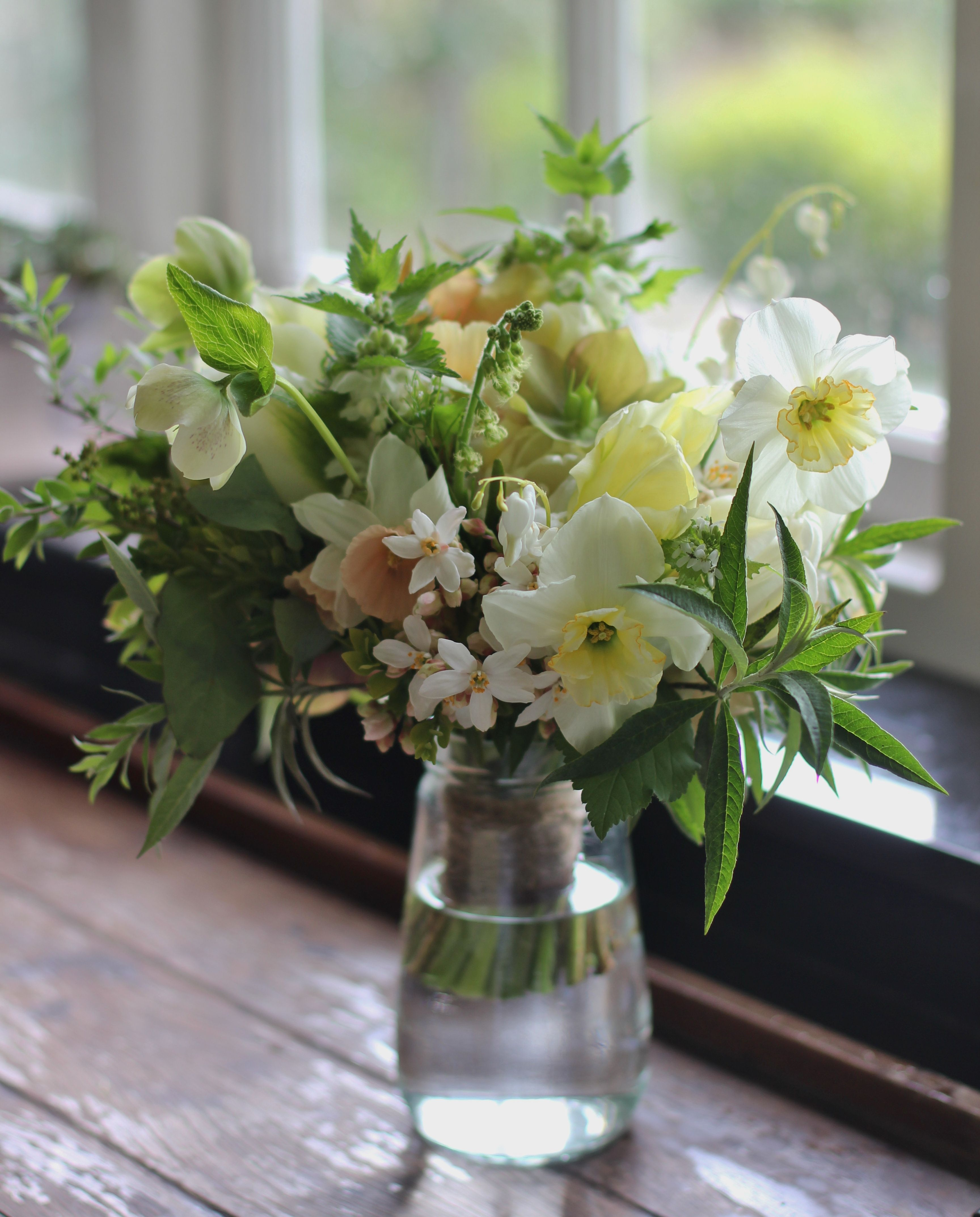 Lock Cottage Flowers Surrey UK Homegrown Spring Wedding Bouquet