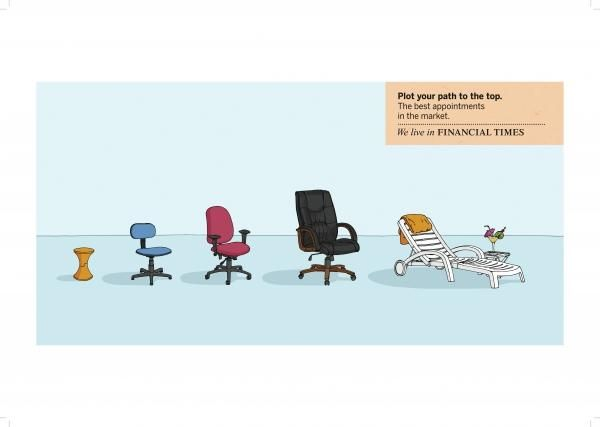 CHAIRS, Tribal London, Financial Times, Print, Outdoor, Ads. DDB ...