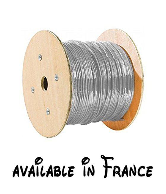 B00R35AMLW  Connect 500m F/UTP CAT 5e stranded-wire CâbleGris F - gaine electrique pour exterieur