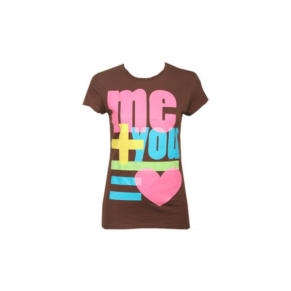 Me And You Tee - A Product Page ❤ liked on Polyvore featuring tops, t-shirts, shirts, tees, wet seal, t shirts, pink t shirt, tee-shirt and pink shirt