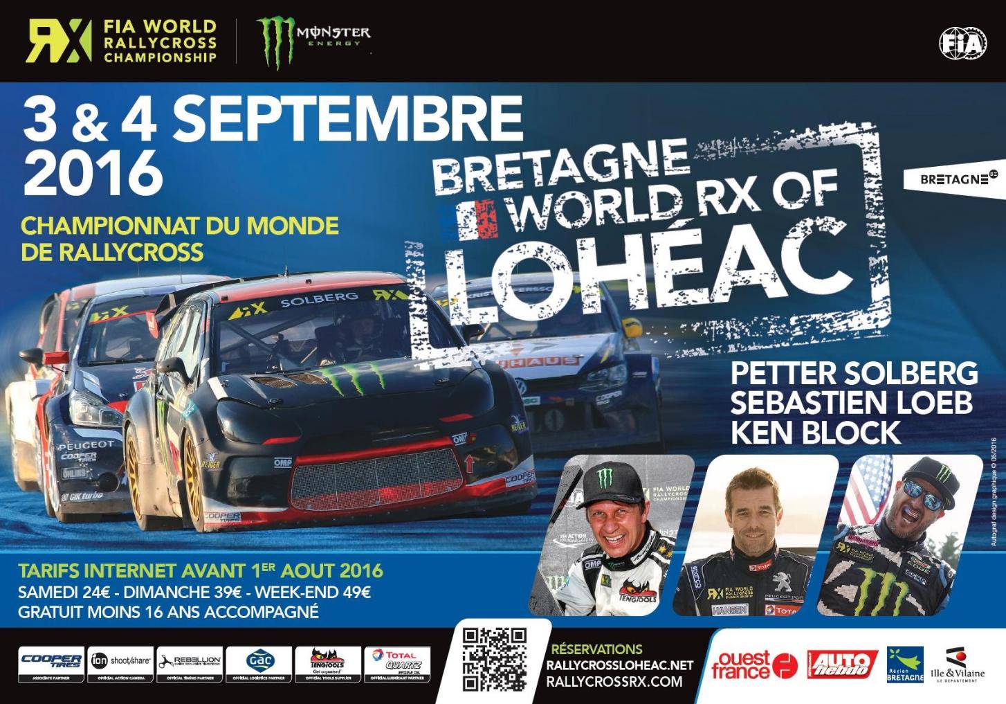 Marque Bretagne - Rallycross de Lohéac - Affiche - 2016