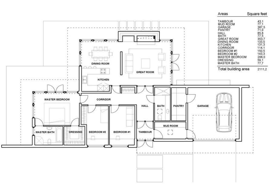 Plano casa minimalista una planta casas pinterest for Casas minimalistas planos