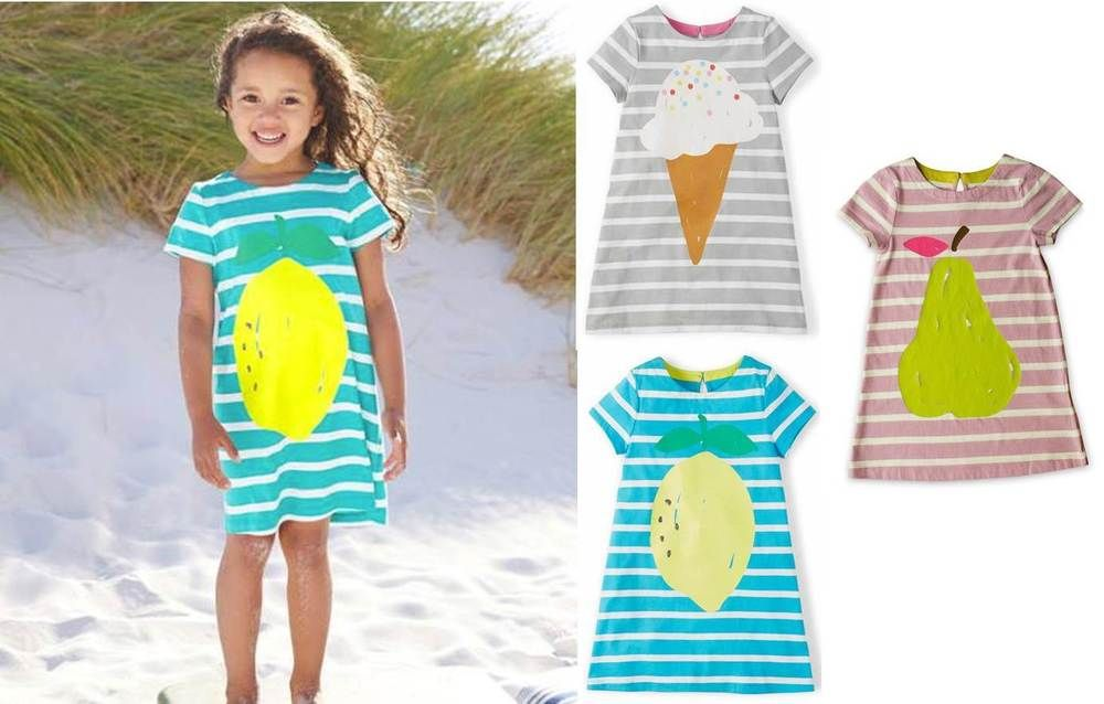986fb0000e4 Details about Mini Boden dress girls stripy logo jersey summer t ...
