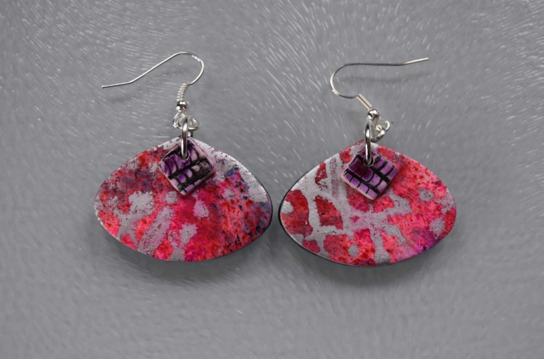 Handmade polymer clay  earrings by MillHouseYorkshire on Etsy https://www.etsy.com/listing/492614214/handmade-polymer-clay-earrings
