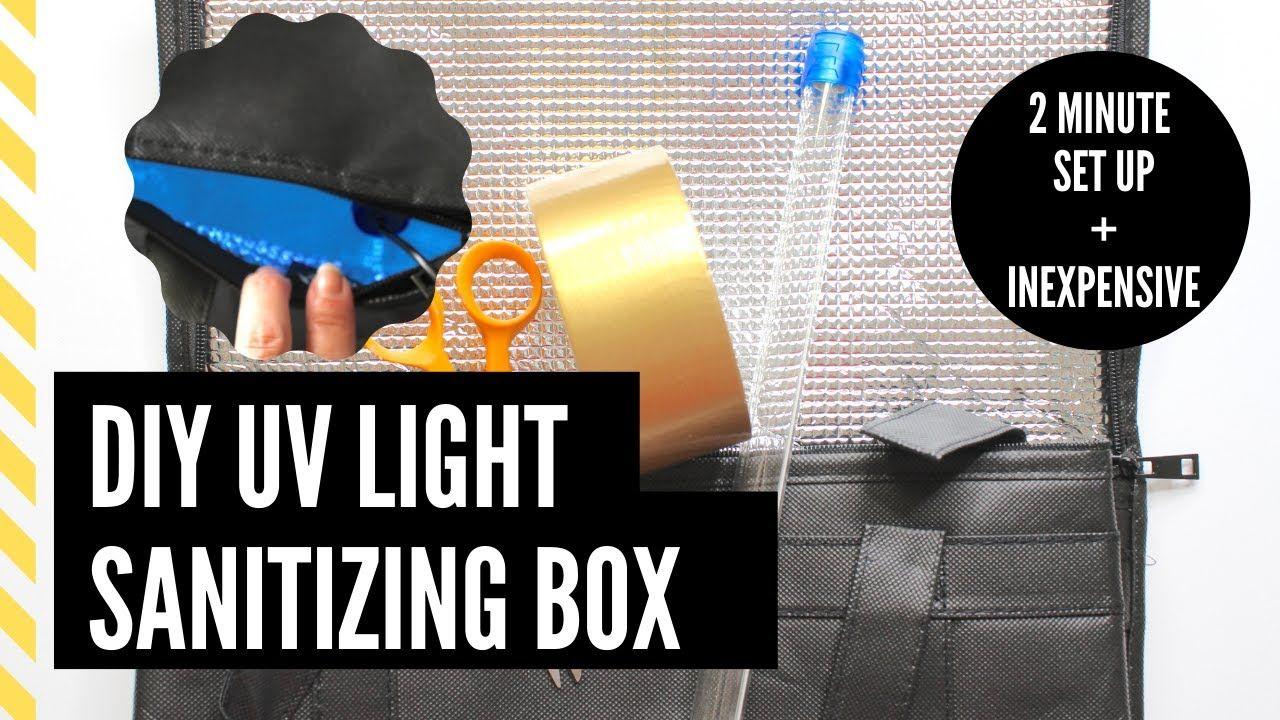 DIY UV Light Box Sanitize + Reuse Face Masks