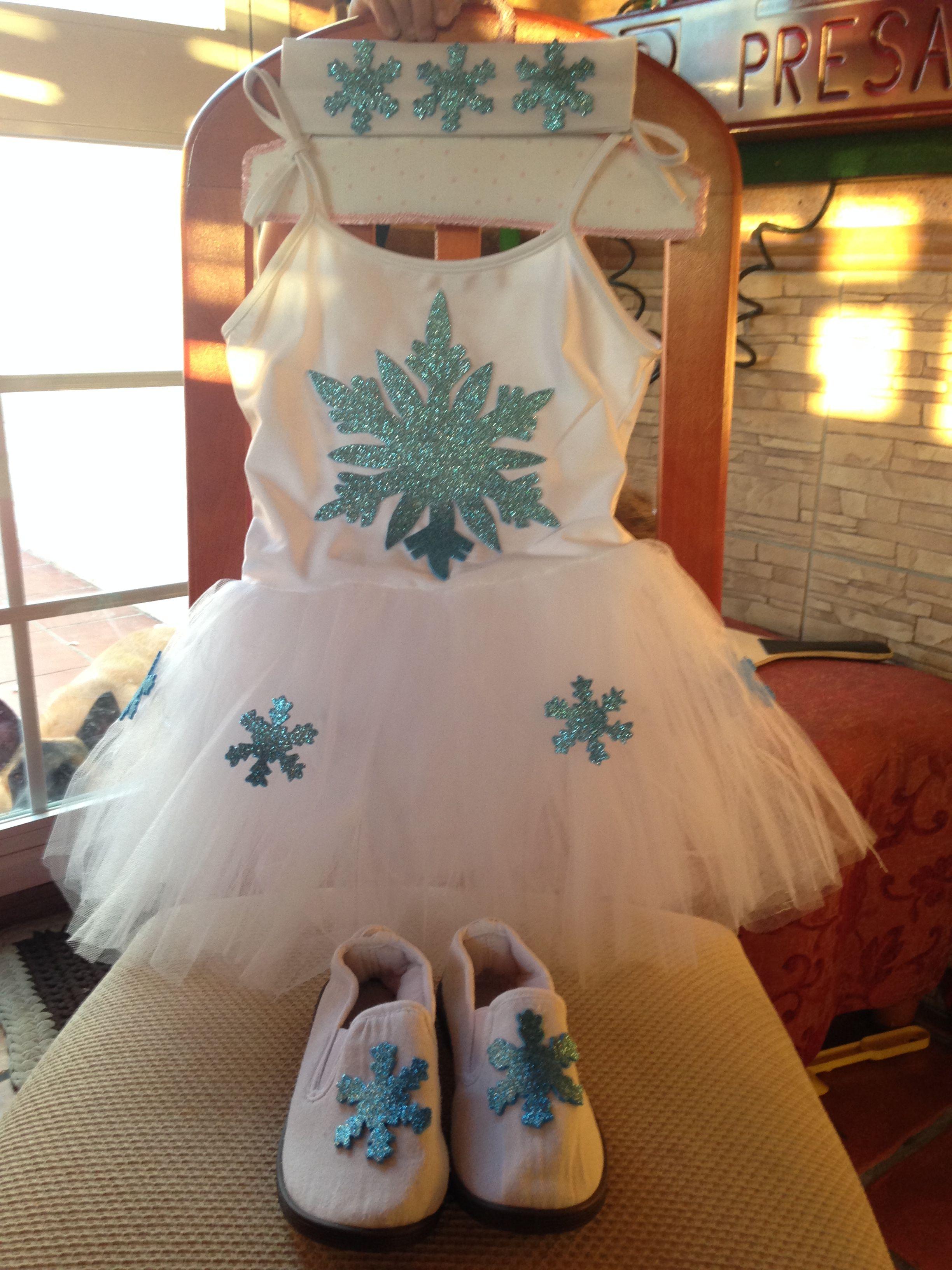 Disfraz copo de nieve mis creaciones disfraces de - Disfraces navidenos para ninas ...