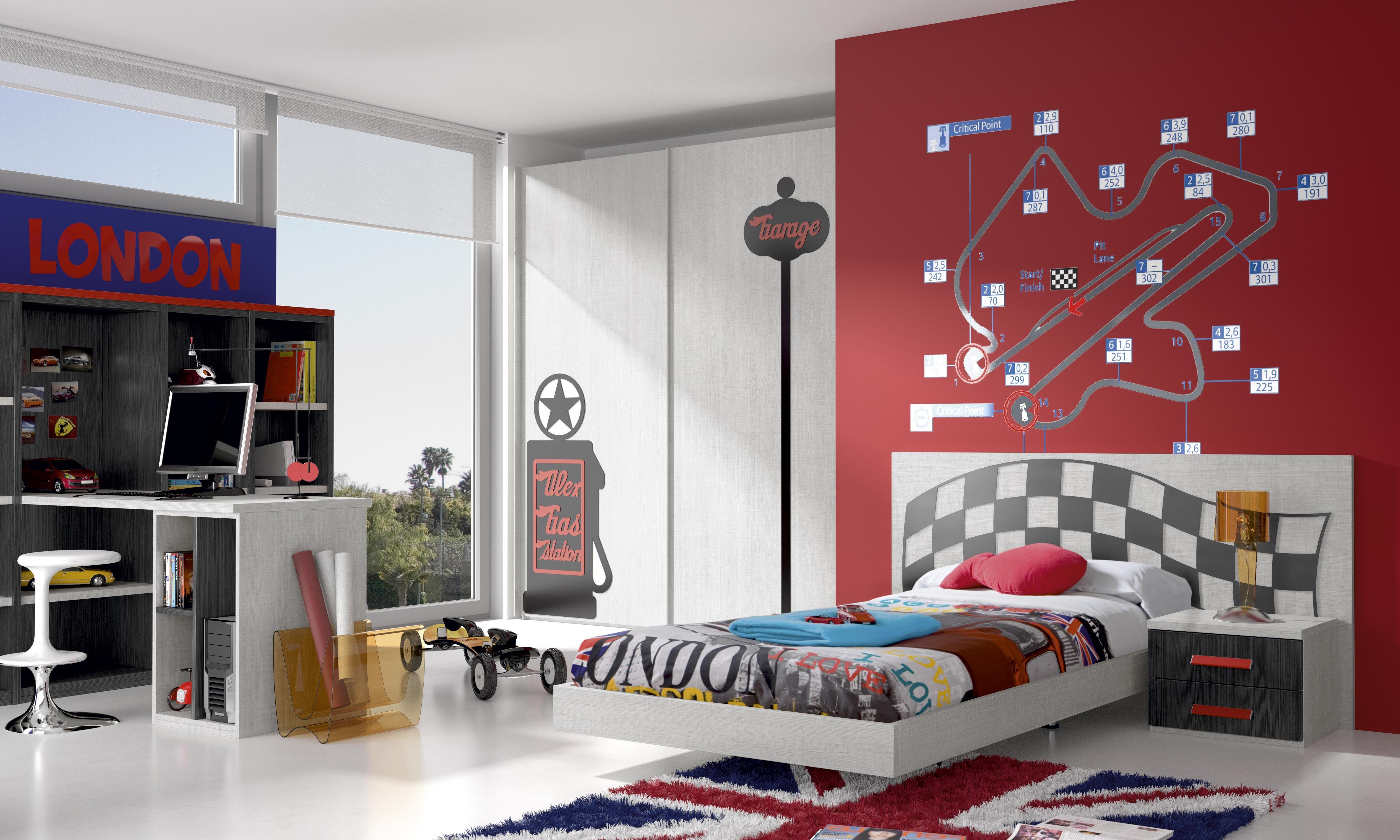 Habitaciones infantiles tem ticas dibujos animados coches4 - Habitaciones infantiles tematicas ...