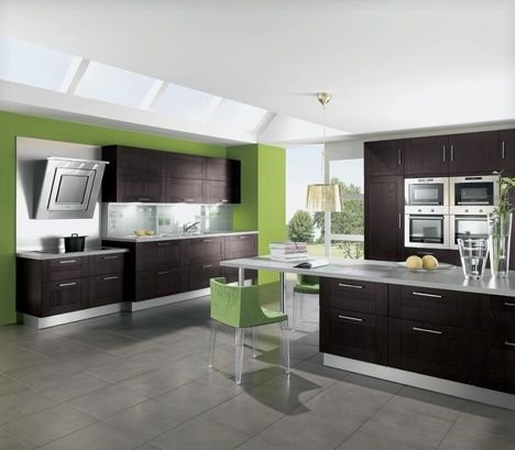 Interior Design Kitchen | Home Interior Gallery: Luxury Fresh Green Kitchen Interior Design