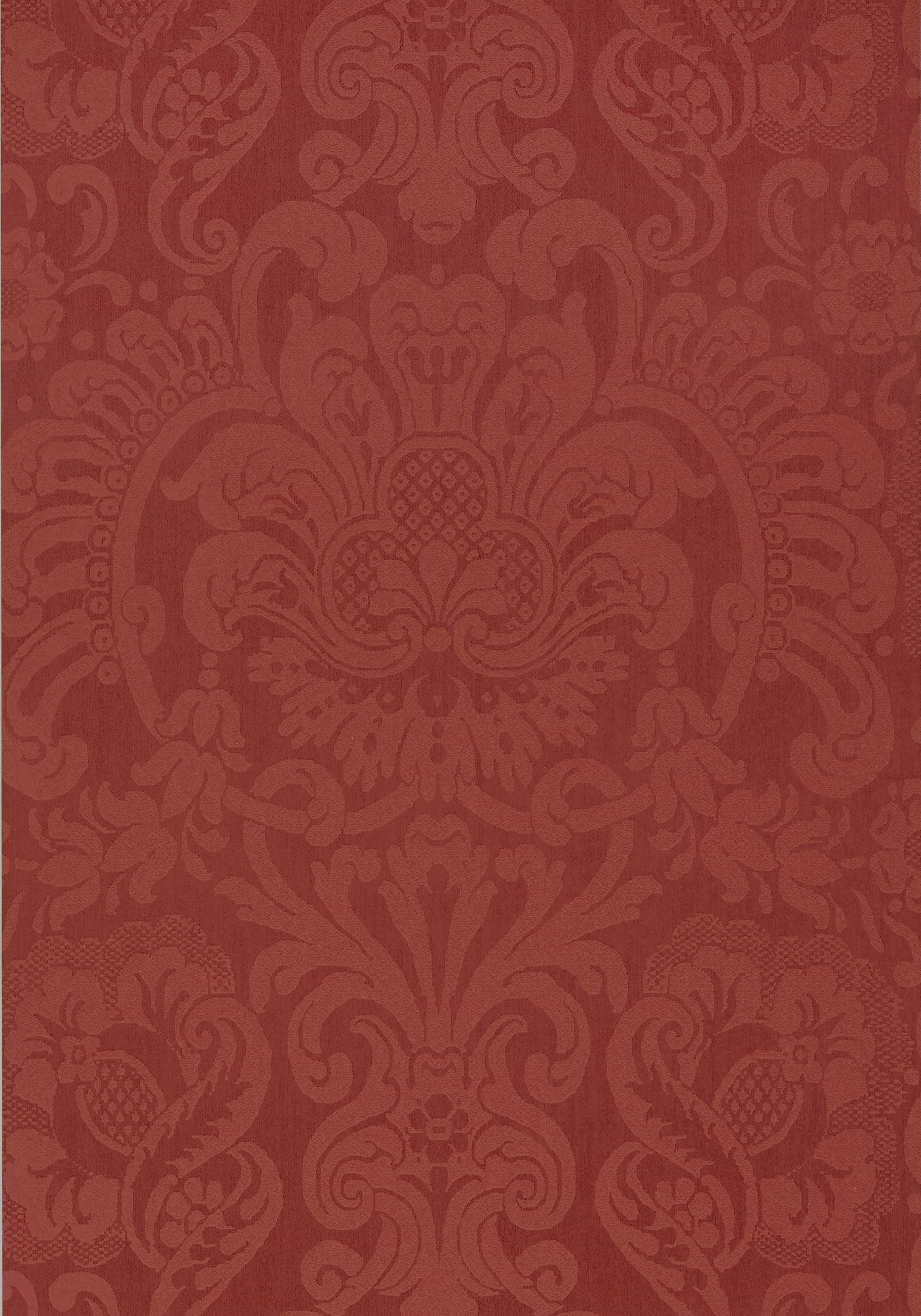 DORIAN DAMASK, Red, T89106, Collection Damask Resource 4 from Thibaut