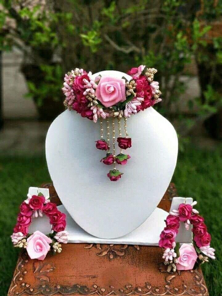 Pin by Harshvi Shah on Jewellery Wedding flower jewelry