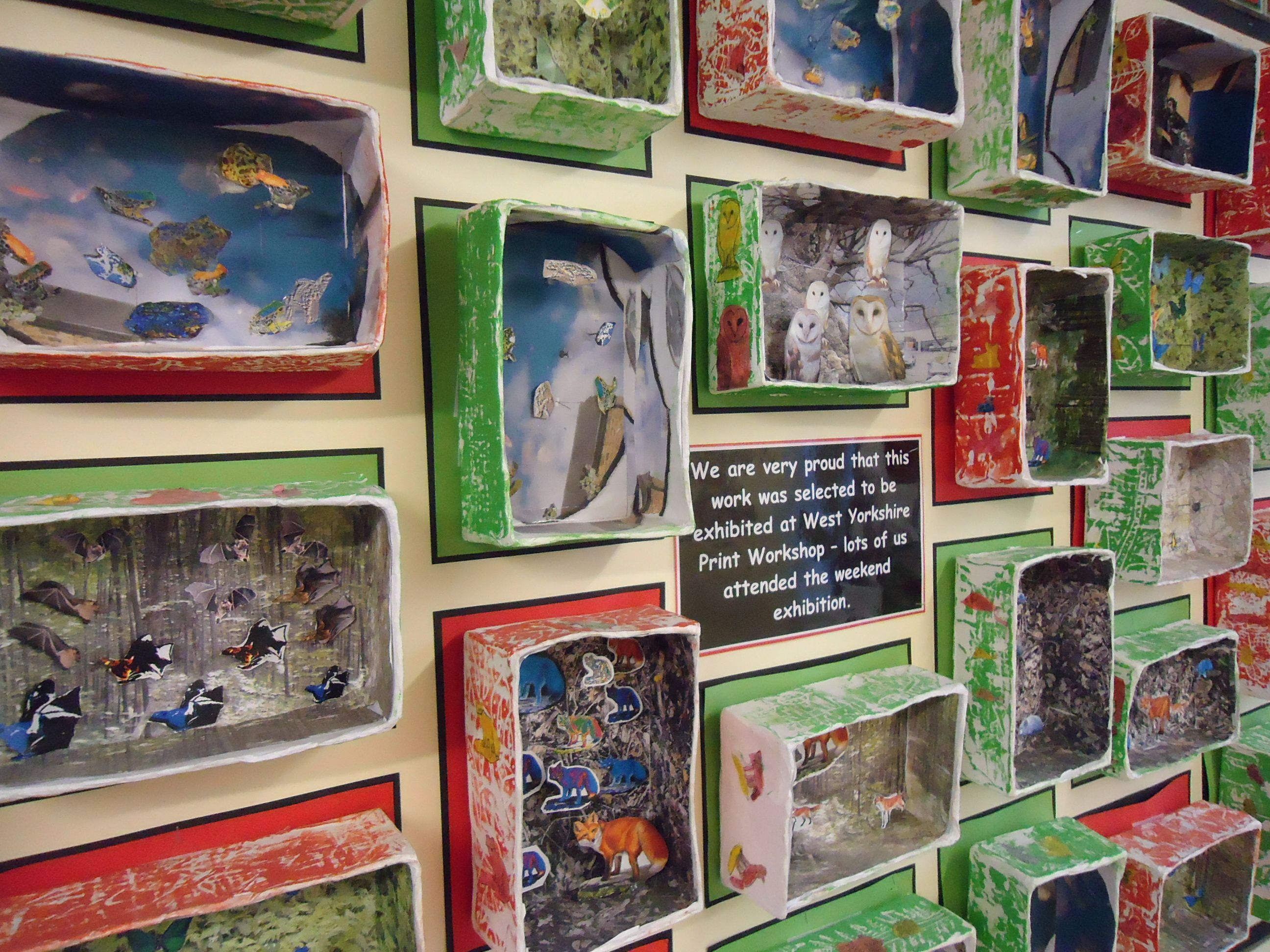 Year 4 John Dilnot Inspired Box Habitats