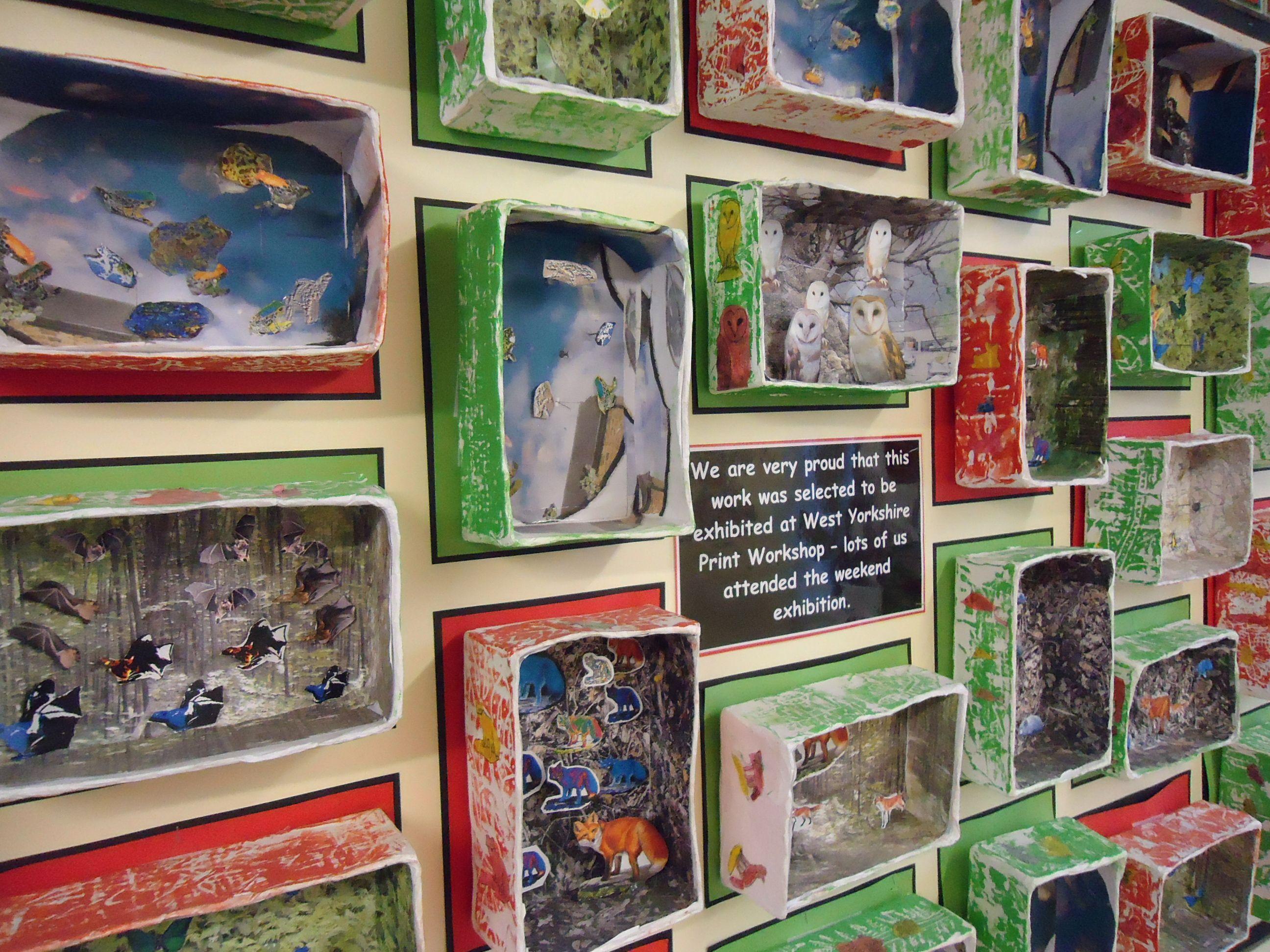 Year 4 John Dilnot Inspired Box Habitats