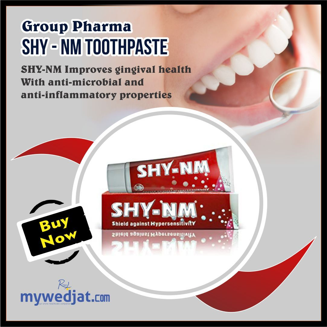 Group Pharma Shy-NM Toothpaste 100g (Pack of 3) | Teeth ...