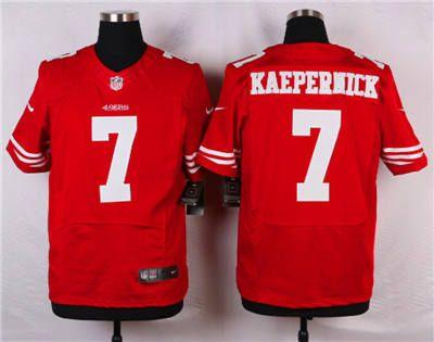 Top Nike San Francisco 49ers #7 Colin Kaepernick Red Elite Jersey | San