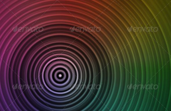 Concentric Circles abstract, art, background, beautiful, black - blank brochure
