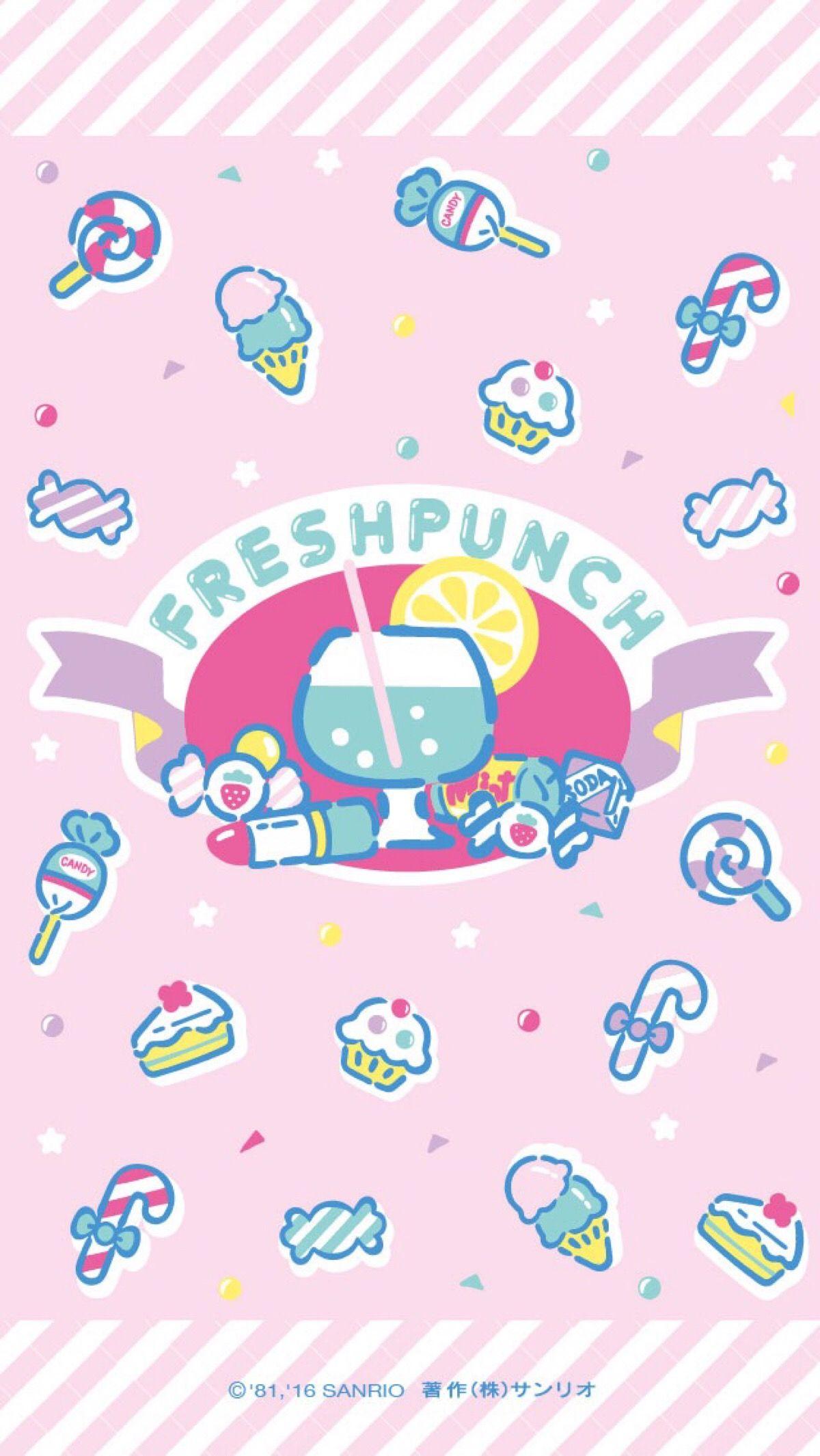 Fresh Punch Wallpaper かわいい 壁紙 Iphone サンリオ イラスト 夢可愛い